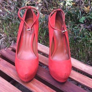 SCHUTZ Shoes - Schutz Leather Platform Heels